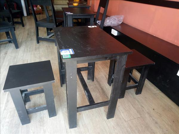 Bộ bàn cafe gỗ tự nhiên SP011961