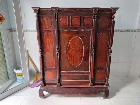 Tủ thờ gỗ tự nhiên cũ SP015139