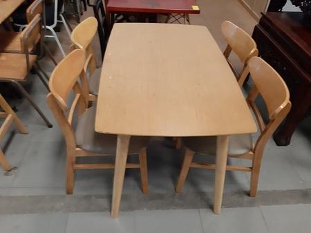 Bộ bàn ăn gỗ tự nhiên cũ SP015118