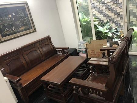 Bộ sofa gỗ tự nhiên cũ SP015095