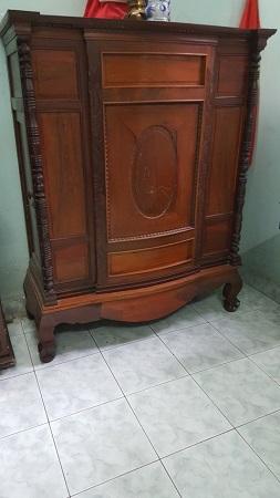 Tủ thờ gỗ tự nhiên cũ SP015040