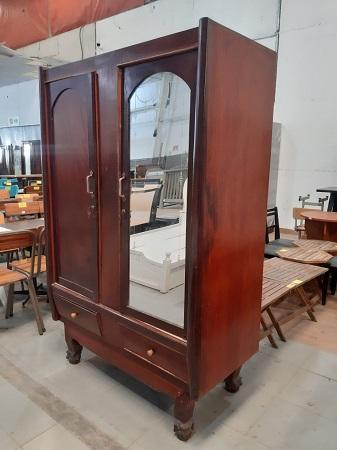 Tủ quần áo gỗ tự nhiên cũ SP015050