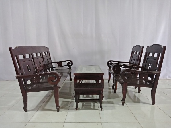 Bộ sofa gỗ Gõ đỏ cũ SP006761