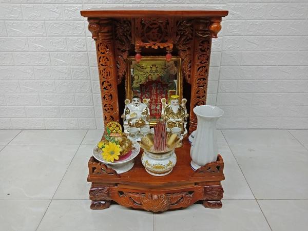 Bộ bàn thờ ông địa gỗ Sồi cũ SP006932