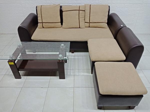 Bộ sofa góc cũ SP006981