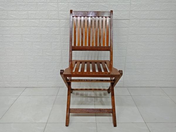 Ghế xếp cafe gỗ cao su cũ SP007076