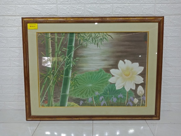 Tranh hoa sen cũ SP006998
