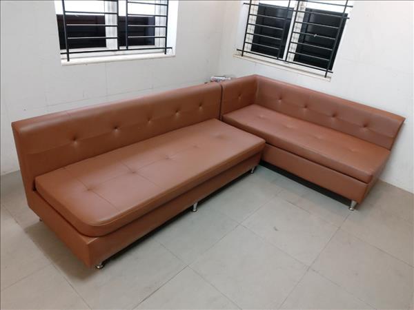 Bộ sofa góc L cũ SP012385