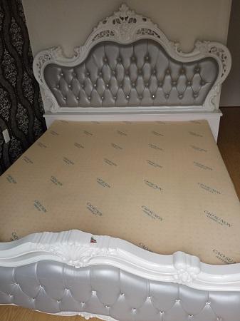 Giường gỗ MDF  cũ SP015234