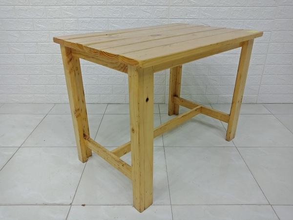 Bàn cafe gỗ thông cũ SP007096