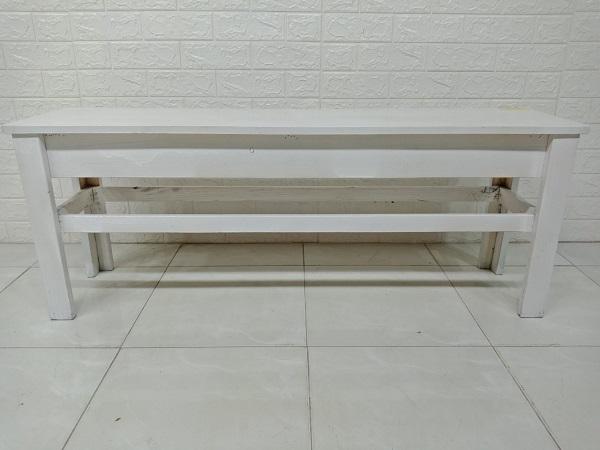Băng ghế gỗ thông cũ SP007343