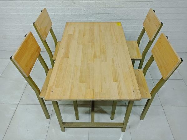 Bộ bàn ăn gỗ cao su cũ SP007268