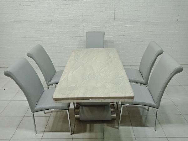 Bộ bàn ăn mặt đá cũ SP007350