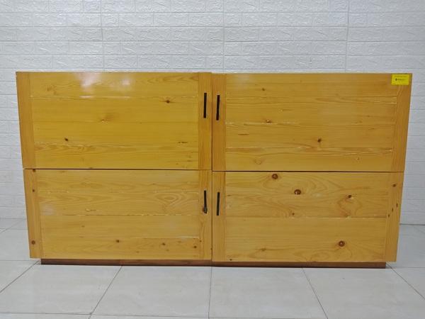 Tủ bếp trên gỗ thông cũ thanh lý giá rẻ SP007031.28