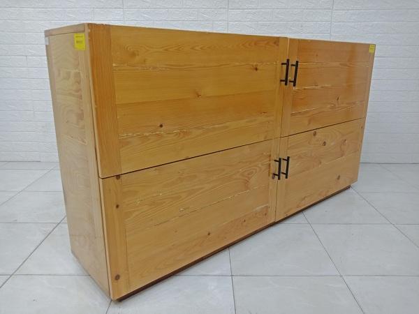 Tủ bếp trên gỗ thông cũ SP007031.28