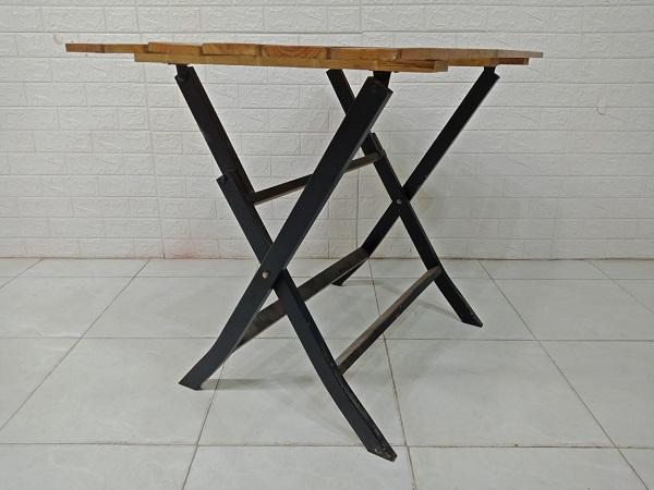 Bàn cafe gỗ thông cũ SP007806