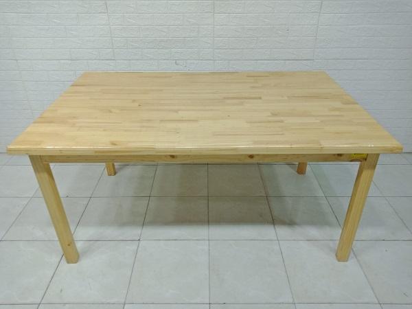 Bàn ăn gỗ thông cũ SP007783.2