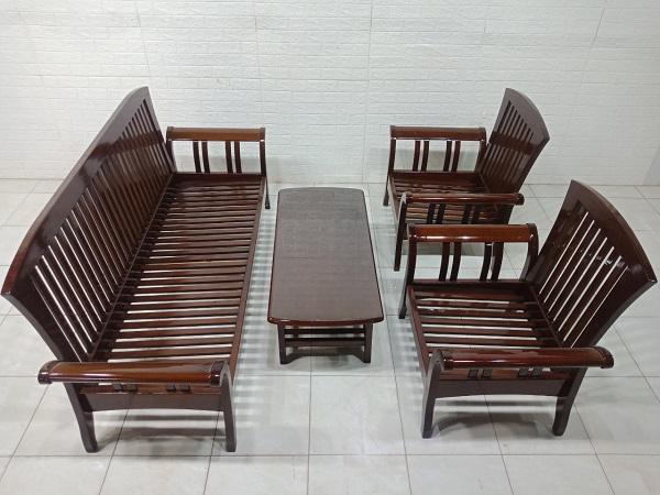 Bộ salon gỗ Sồi mỹ cũ SP007712