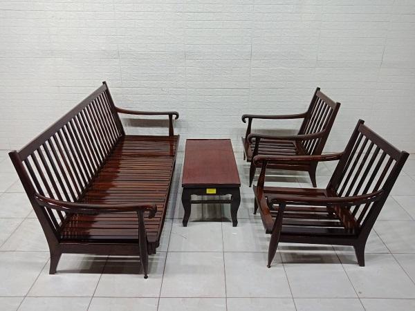 Bộ sofa gỗ Căm xe cũ SP007703