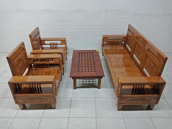 Bộ sofa gỗ Sồi cũ SP007532