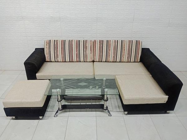 Bộ sofa góc cũ SP007482