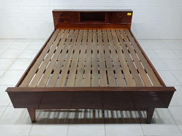 Giường gỗ Gõ đỏ cũ SP007630