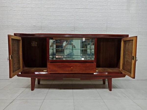 Tủ búp phê gỗ Gõ đỏ cũ SP007397