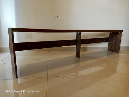 Băng ghế gỗ cũ SP012690