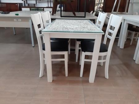 Bộ bàn ăn gỗ tự nhiên cũ SP015626