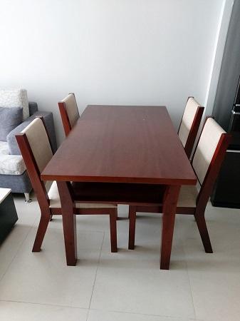 Bàn ăn 4 ghế gỗ tự nhiên cũ SP015681