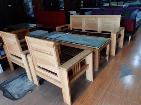 Bộ sofa gỗ Sồi cũ SP015663