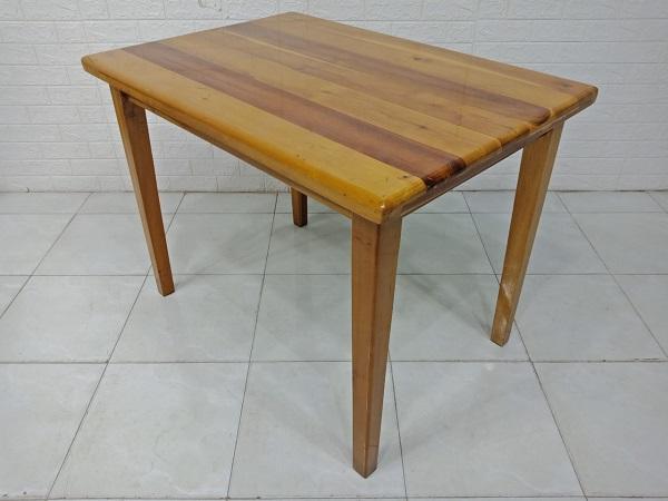 Bàn ăn gỗ cao su cũ SP007979