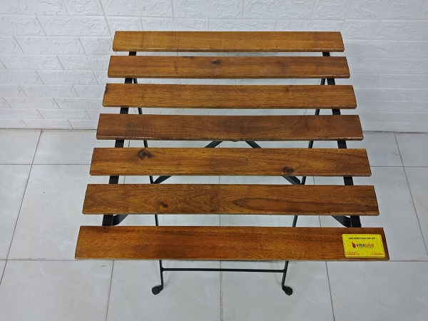 Bàn cafe gỗ cao su cũ SP007528
