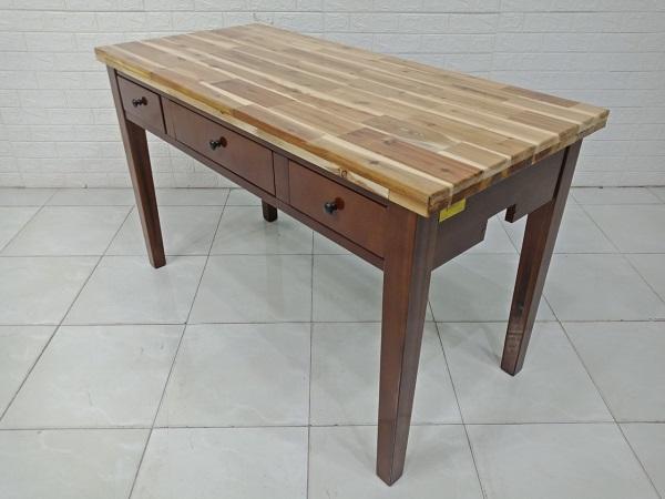 Bàn làm việc gỗ cao su cũ SP007918