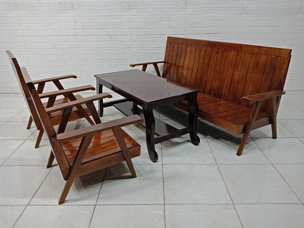 Bộ sofa gỗ thao lao cũ SP007943.2