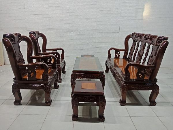 Bộ sofa gỗ Tràm cũ SP007908
