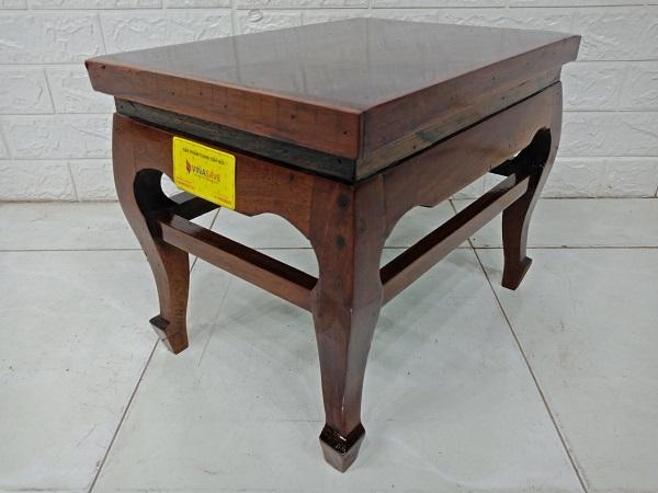 Ghế đôn bàn trà gỗ Gõ đỏ cũ SP007947