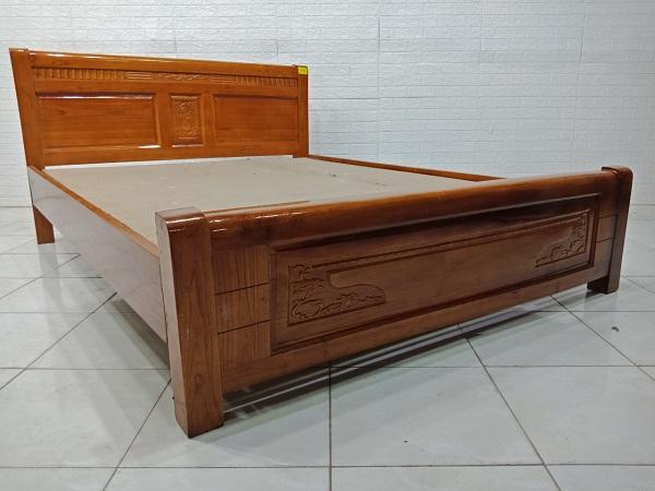 Giường gỗ Sồi mỹ cũ SP007909