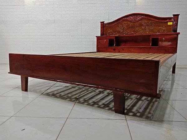 Giường gỗ Tràm bông vàng cũ SP008026.1