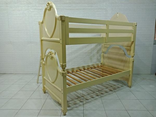 Giường tầng gỗ cao su cũ SP007899