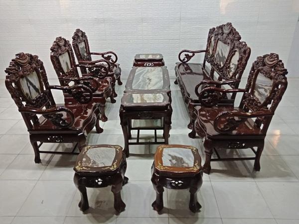 Bộ sofa gỗ Cẩm lai cũ SP007277