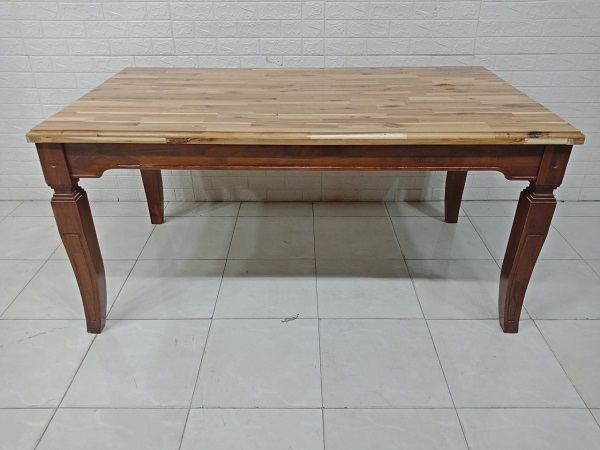 Bàn ăn gỗ cao su cũ SP007941