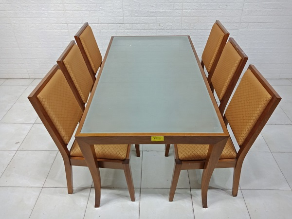 Bộ bàn ăn gỗ cao su cũ SP007998