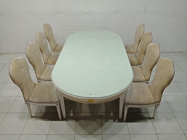 Bộ bàn ăn gỗ cao su cũ SP008041