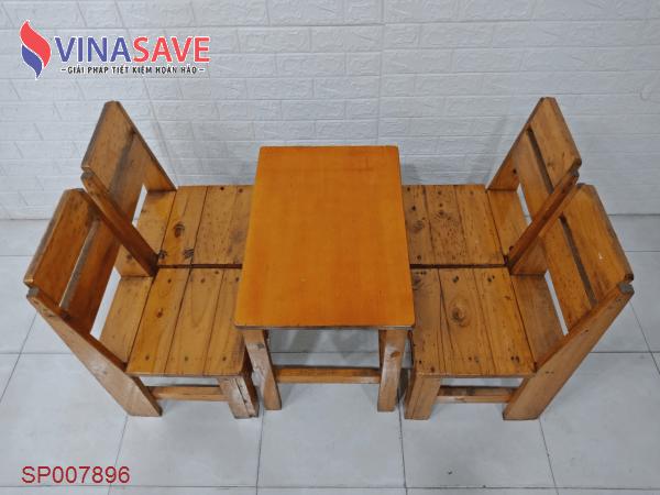 Bộ bàn cafe gỗ thông SP007896