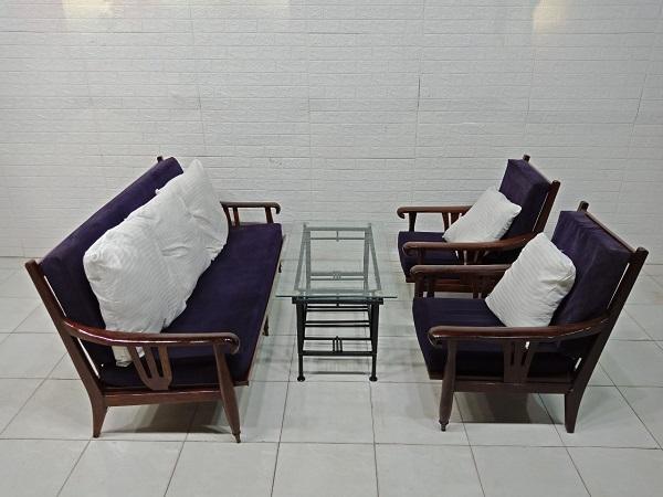 Bộ sofa gỗ Cẩm lai cũ SP007943.5