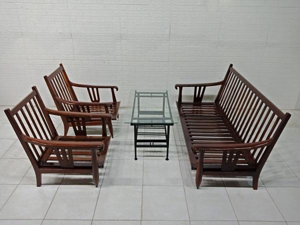 Bộ sofa gỗ Gõ đỏ cũ SP007943.1