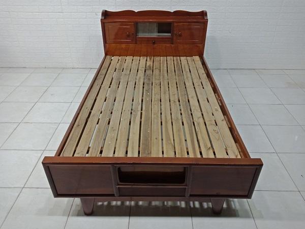 Giường hộp gỗ dầu gió cũ SP008038.2