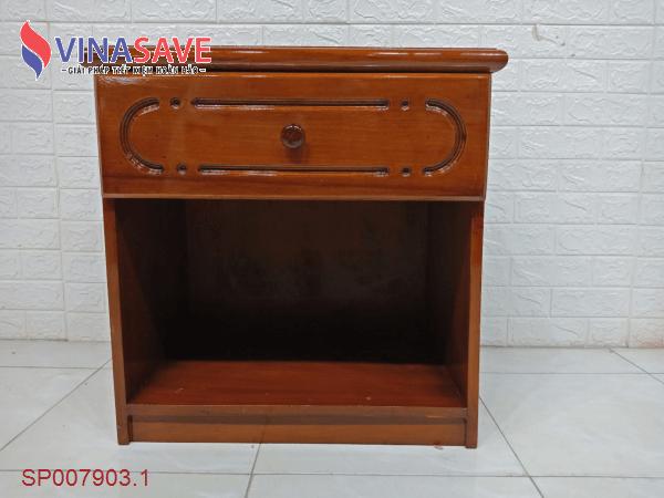 Tủ đầu giường gỗ cao su cũ SP007903.1