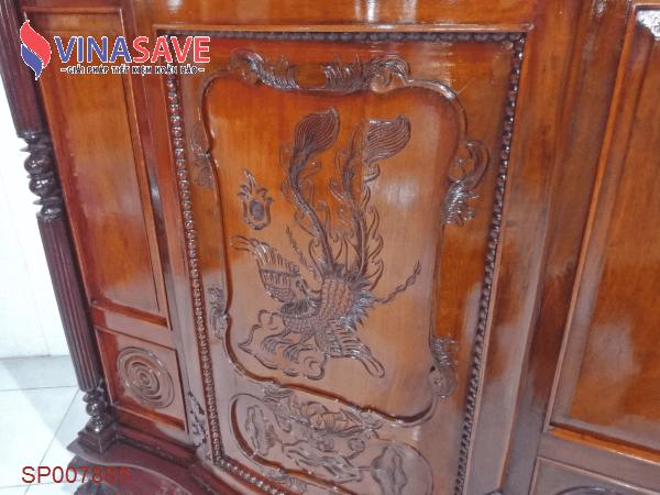 Tủ thờ gỗ Mít cũ SP007885
